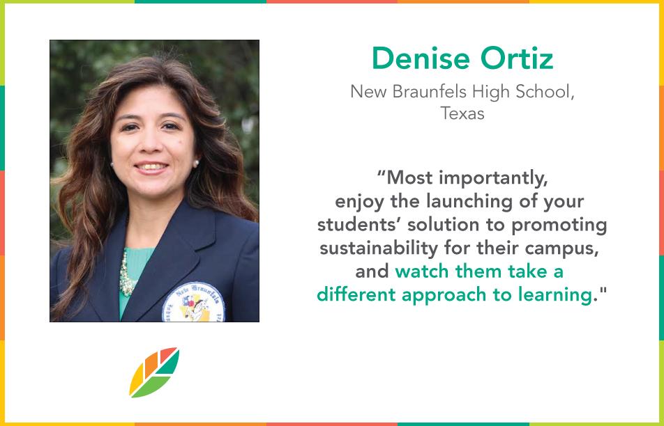 EcoRise Teacher Ambassador Denise Ortiz