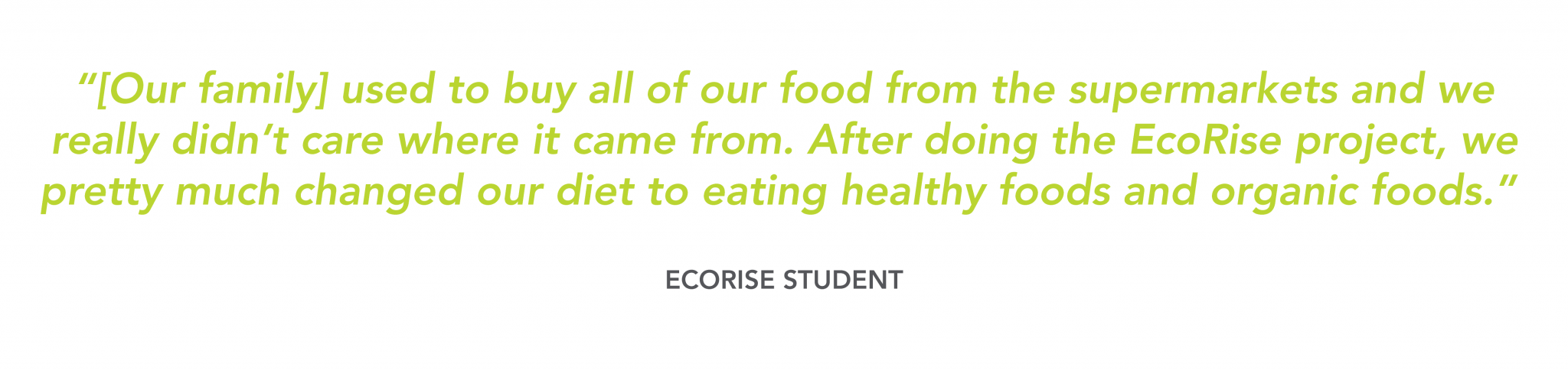 EcoRise Student testimonial