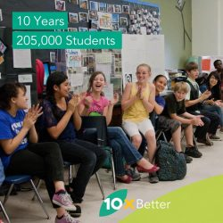 10xbetter founded in 2008 served over 205,000 students