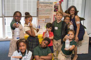 EcoRise Elementary Teacher of the Year and her 3rd Grade Students from Washington, DC. Photo courtesy of Ana Ka'ahanui.