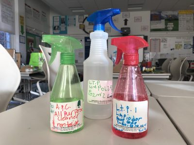 all purpose non toxic cleaner made by bruce monroe students