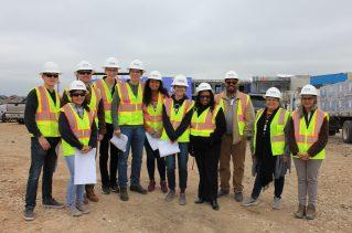 First cohort of Green Building Interns at Blazier Intermediate School Building Construction Site